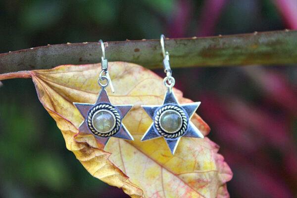 star earrings, boho earrings