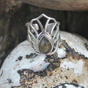 lotus flower ring, boho ring