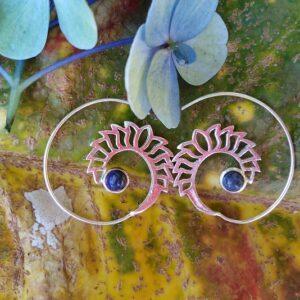 Lapis Lazuli stone, boho earrings