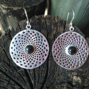 black onyx earrings, boho earrings