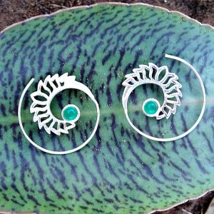 green jade, hippie earrings, boho earrings