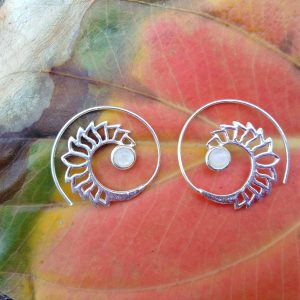 moonstone earrings, bohemian earrings