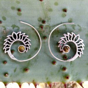 Tigers Eye, Boho earrings