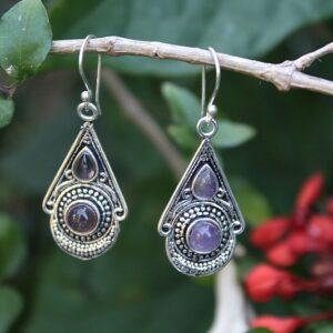 Amethyst earrings, Gypsy earrings South Africa
