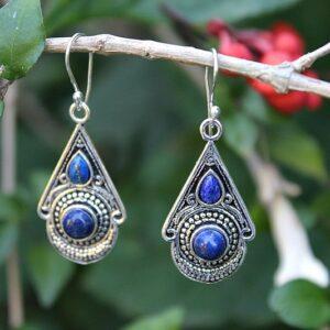 Lapis Lazuli Jewelry, gypsy earrings South Africa