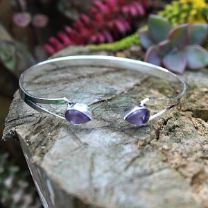 Amethyst bangle, gemstone bangles South Africa, bohemian bangles South Africa