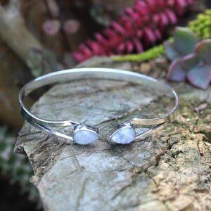Moonstone bangle, bohemian jewelry South Africa