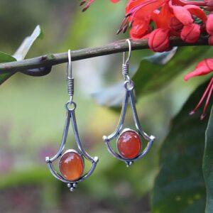 Carnelian stone jewelry, bohemian earrings South Africa