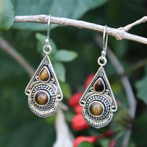Tigers Eye earrings, Gemstone earrings South Africa