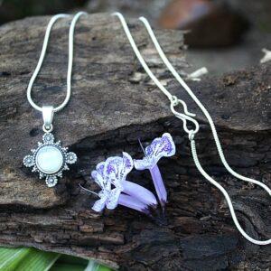 Moonstone necklace, bohemian necklace