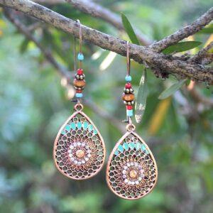 Bohemian earth earrings South Africa, BOHO jewelry South Africa