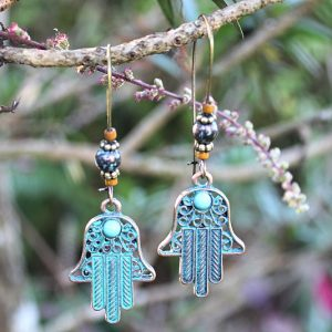 Hamsa hand hoop earrings, Bohemian earrings for sale South Africa