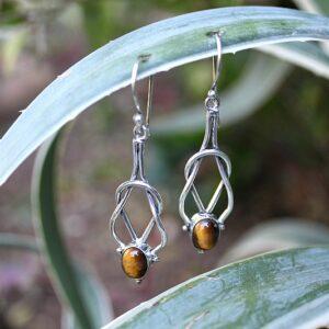 Tigers eye earrings, gypsy earrings South Africa, earrings for sale South Africa