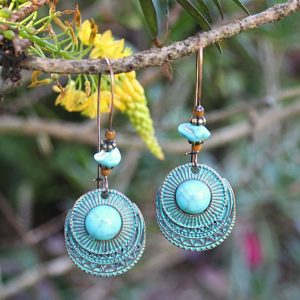 Turquoise ethnic earrings, Bohemian earrings for sale South Africa