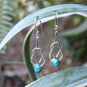 Turquoise earrings, bohemian earrings