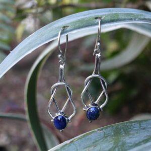 Lapis Lazuli earrings, bohemian gypsy earrings South Africa