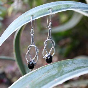 black onyx earrings, bohemian earrings, Viking jewelry South Africa
