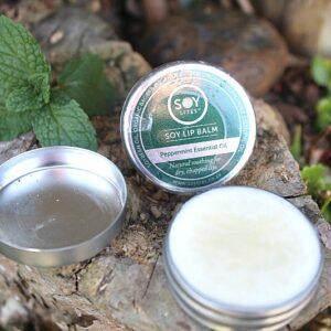 Natural lip balm South Africa, peppermint lip balm