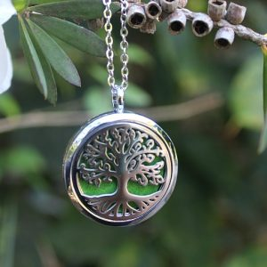 tree of life diffuser necklace, essential oil necklace