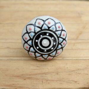Mandala door knob, ceramic door knobs South Africa