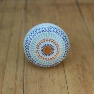 door knobs, ceramic mandala door knobs