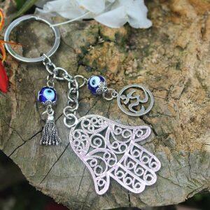 Hamsa hand key ring, Om key ring, key rings South Africa