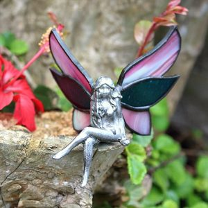 stained glass purple fairy, purple fairy's South Africa