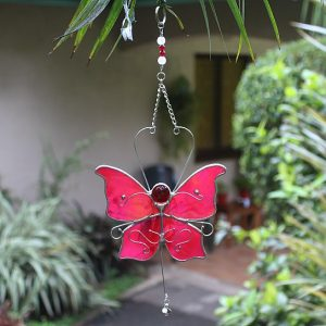 Pink Butterfly, Stained glass butterfly