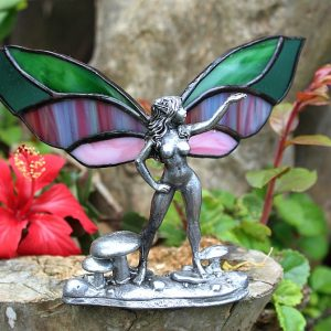 Stained glass mushroom fairy, stained glass fairy's South Africa