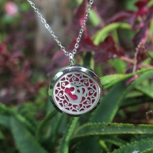 Diffuser necklace OM, Essential Oil diffuser necklace