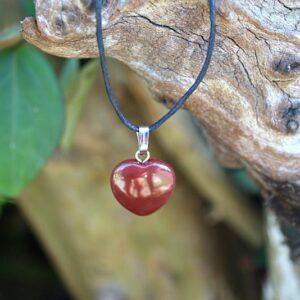 Red Jasper necklace, Red jasper heart necklace