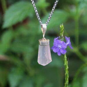 Girasol crystal necklace, Girasol necklace