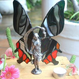 Stained glass scarf fairy, stained glass home decor South Africa