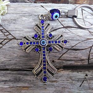 Cross key rings, Evil eye key rings
