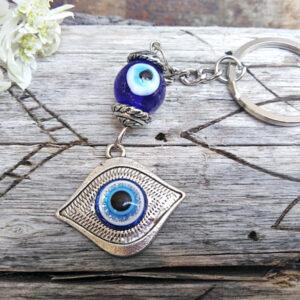 Eye key ring, evil eye key ring