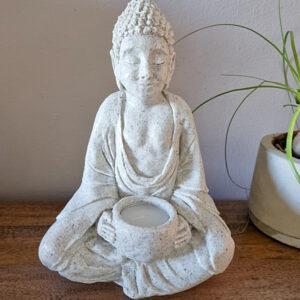 Buddha statue candle holder, Candle holder