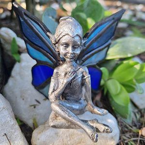 Stained glass pixie, stained glass