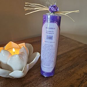 Aquarius candle, star sign candle