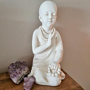 Monk statue, meditating monk statue