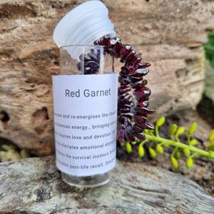 Red garnet bangle in a bottle, Red garnet