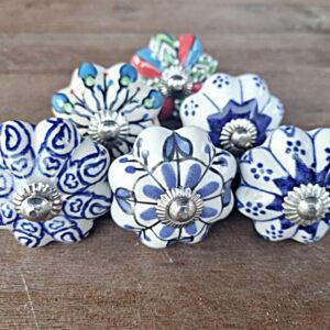 ceramic door knobs, bohemian door knobs