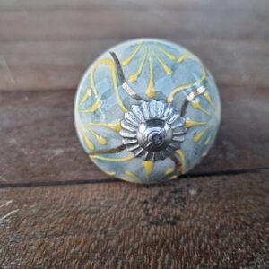 Ceramic door knob, bohemian door knob