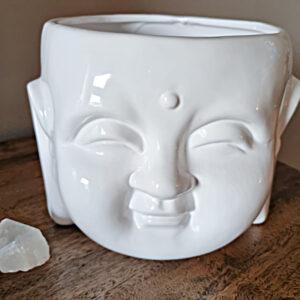Buddha head pot plant holder, Buddha ceramic head