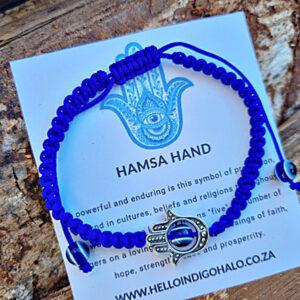 Hamsa hand bangle, Evil eye bangle